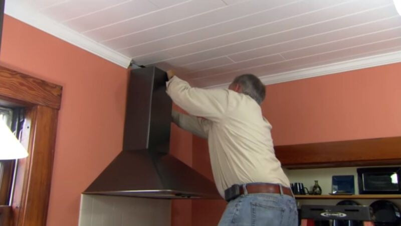 Mount the New Range Hood Vent