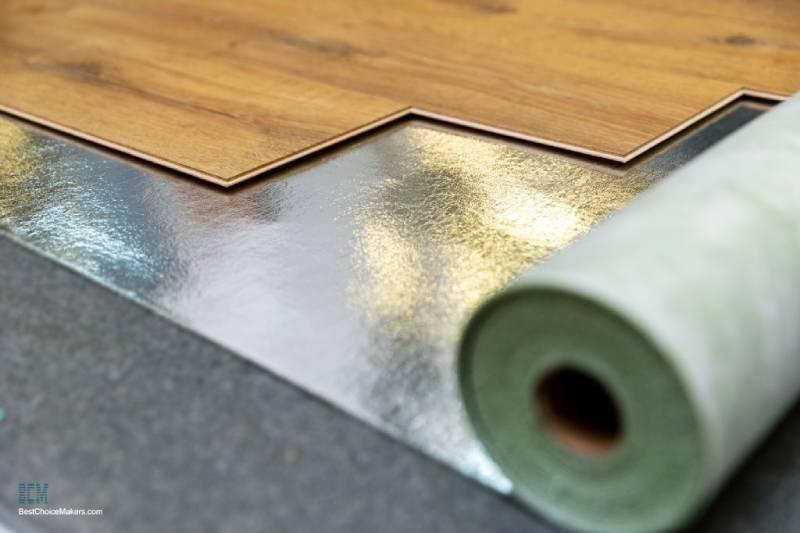 Installing underlay for laminate flooring over concrete