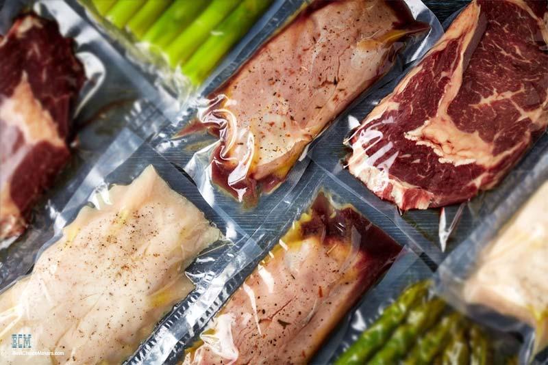 Vacuum sealed vegetables & Meats