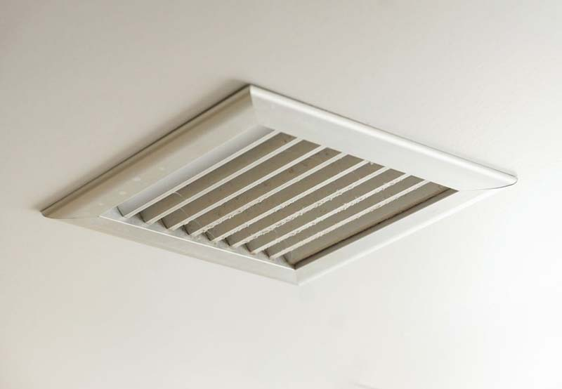 Bathroom Ventilation Through Ceiling to wall vent