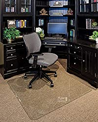 Clearly Innovative Tempered Glass Chair Mat - Best Rated Chair Mat for Carpet & Hardwood