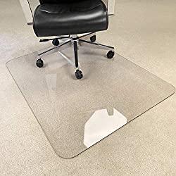 Crystal Clear Hard Chair Mat - Heavy Duty Office Chair Mat for Carpet & Hard Floor