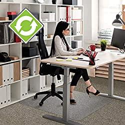Floortex Recycled Enhanced Polymer Chair Mat - Best Standard Pile Carpet Chair Mat
